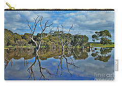 Carry-all Pouch featuring the photograph Glass Lake by Stephen Mitchell