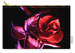 Glowing Glass Rose Carry-all Pouch