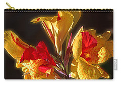 Carry-all Pouch featuring the photograph Glowing Iris by DigiArt Diaries by Vicky B Fuller