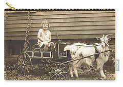 Carry-all Pouch featuring the photograph Goat Wagon by Bonfire Photography