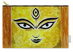 Carry-all Pouch featuring the painting Goddess Kali by Sonali Gangane