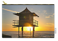 Carry-all Pouch featuring the photograph Gold Coast Life Guard Tower by Eric Tressler