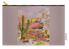 Gold-lined Rocks Carry-all Pouch by Judith Rhue