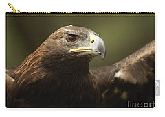 Carry-all Pouch featuring the photograph Golden Eagle by Doug Herr