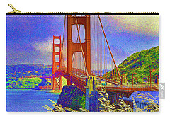 Carry-all Pouch featuring the photograph Golden Gate Bridge - 6 by Mark Madere