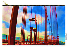 Carry-all Pouch featuring the photograph Golden Gate Bridge - 8 by Mark Madere