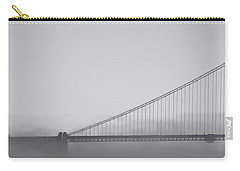 Carry-all Pouch featuring the photograph Golden Gate Morning by Don Schwartz