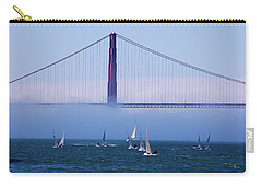 Carry-all Pouch featuring the photograph Golden Gate Windsurfers by Don Schwartz
