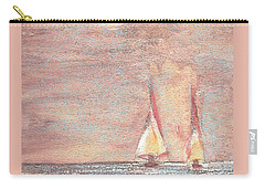 Carry-all Pouch featuring the painting Golden Sails by Richard James Digance