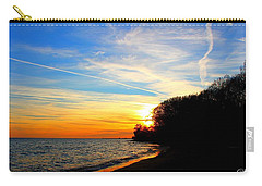 Carry-all Pouch featuring the photograph Golden Sunset by Davandra Cribbie