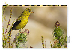 Goldfinch On Lookout Carry-all Pouch by Bill Pevlor