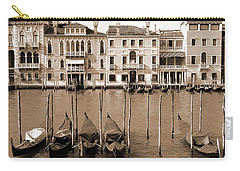 Carry-all Pouch featuring the photograph Gondolas Outside Salute by Donna Corless
