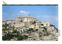 Carry-all Pouch featuring the photograph Gordes In Provence by Carla Parris