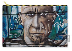 Carry-all Pouch featuring the digital art Graffii Alley by Carol Ailles