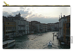 Carry-all Pouch featuring the photograph Grand Canal At Dusk by Laurel Best
