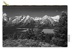 Carry-all Pouch featuring the photograph Grand Tetons by Dan Wells