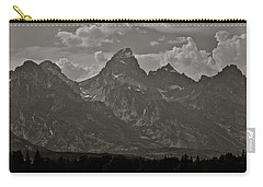 Carry-all Pouch featuring the photograph Grand Tetons by Eric Tressler