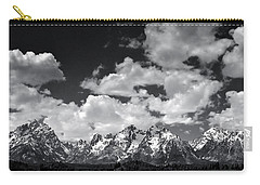 Grand Tetons Panorama In Monochrome Carry-all Pouch