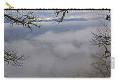 Carry-all Pouch featuring the photograph Grants Pass In The Fog by Mick Anderson