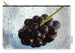 Grape Cluster In Biot Glass Carry-all Pouch by Lainie Wrightson