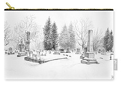Graveyard In The Snow Carry-all Pouch