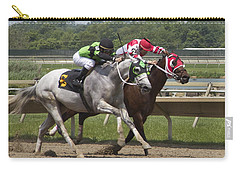 Carry-all Pouch featuring the photograph Gray Vs Bay by Alice Gipson