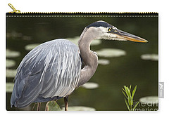 Carry-all Pouch featuring the photograph Great Blue Heron  by Jeannette Hunt