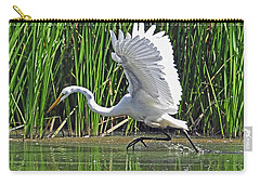 Great Egret   Ardea Alba  Running Start Carry-all Pouch