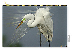 Great Egret Carry-all Pouch by Bob Christopher
