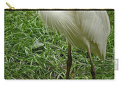 Carry-all Pouch featuring the photograph Great White Heron by Myrna Bradshaw