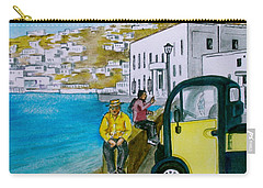 Greek Island Of Mykonis Carry-all Pouch by Frank Hunter
