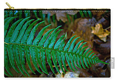 Carry-all Pouch featuring the photograph Green Fern by Tikvah's Hope