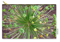 Carry-all Pouch featuring the photograph Green Flower by Stephanie Moore