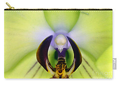 Carry-all Pouch featuring the photograph Green Orchid Macro by Clayton Bruster
