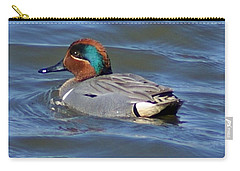 Green Winged Teal Carry-all Pouch by Joe Faherty