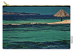 Carry-all Pouch featuring the photograph Grenadines Umbrella by Don Schwartz