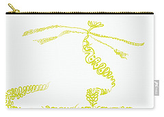 Carry-all Pouch featuring the digital art Ground Frond by Kevin McLaughlin