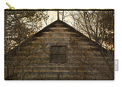 Grungy Hand Hewn Log Chapel Carry-all Pouch by John Stephens