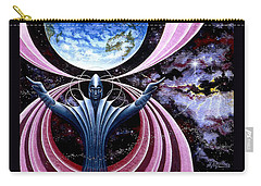 Carry-all Pouch featuring the painting Guardian Angel by Hartmut Jager