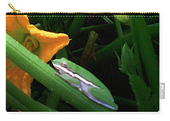 Carry-all Pouch featuring the photograph Guardian Of The Zucchini by George Pedro