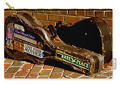Carry-all Pouch featuring the photograph Guitar Case Messages by Lainie Wrightson