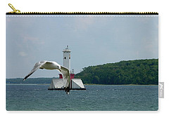Gull And Lighthouse Carry-all Pouch