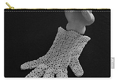 Carry-all Pouch featuring the sculpture Hand And Glove by Barbara St Jean