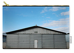 Carry-all Pouch featuring the photograph Hangar 2 The Building by Kathleen Grace