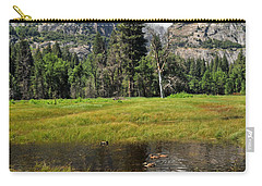 Carry-all Pouch featuring the photograph Happy Campers by Lynn Bauer