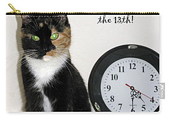 Carry-all Pouch featuring the photograph Happy Friday The 13th by Ausra Huntington nee Paulauskaite