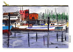 Harbor Fishing Boats Carry-all Pouch by Chriss Pagani