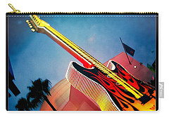 Carry-all Pouch featuring the photograph Hard Rock Guitar by Nina Prommer