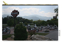 Harleys On The Mountain Carry-all Pouch by Karen Harrison