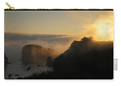 Carry-all Pouch featuring the photograph Harris Beach Sunset Panorama by Mick Anderson